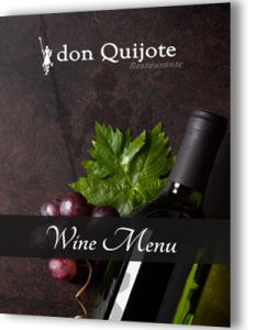 Don Quijote Menu